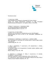 Publikationsliste: F. Gudermann (2006) Instrumentation and ...
