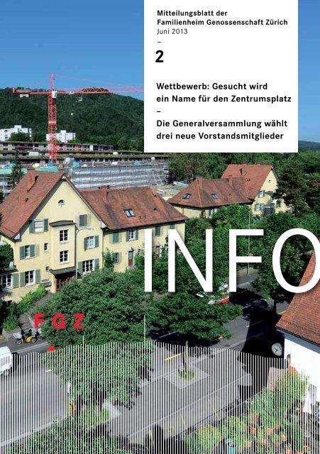 FGZ-Info 2/2013 - Familienheim-Genossenschaft Zürich