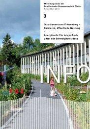 Quartierzentrum Friesenberg - Familienheim-Genossenschaft Zürich