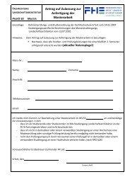 Anmeldung zur Masterarbeit - Fachhochschule Erfurt