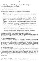 Stadtökologie und Stadtvegetation in Augsburg. - in Müller, N. (Hrsg.)