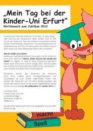 Wettbewerb zum Jubiläum 2012 - Fachhochschule Erfurt