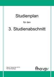 Studienplan 3. Studienabschnitt - Fh-guestrow.de