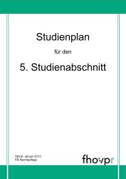 Studienplan für den 5. Studienabschnitt - Fh-guestrow.de
