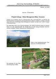 Projekt Undugu - Water Management Mtae, Tansania