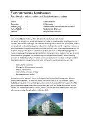 SoSe 2012 - Fachhochschule Nordhausen