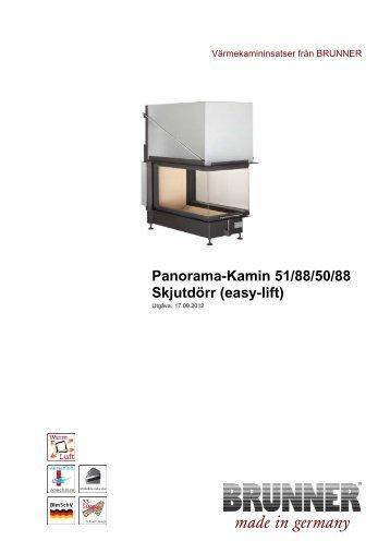 Panorama-Kamin 51/88/50/88 Skjutdörr (easy-lift) - Brunner