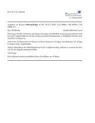 Prof. Dr. Uwe Schmidt 11. Februar 2013 Aufgaben zur ... - FH Wedel