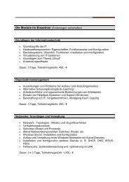 Die Module im Einzelnen (Änderungen vorbehalten) Grundlagen ...