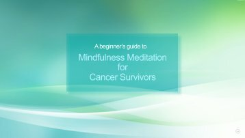 Mindfulness Meditation for Cancer Survivors - Fred Hutchinson ...