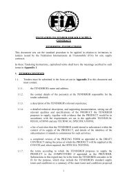 contract tendering instructions - FiA