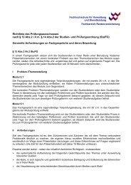 Richtlinie Fachgespräche - FHVD - Fachhochschule für Verwaltung ...
