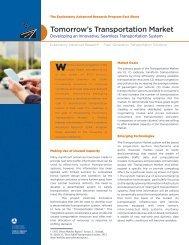 Tomorrow's Transportation Market - Federal Highway Administration