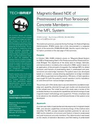 Magnetic-Based NDE of Prestressed and Post-Tensioned Concrete ...
