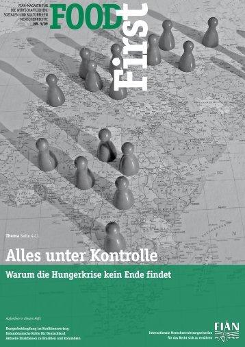 FOODFirst 2009-3: Alles unter Kontrolle - FIAN Österreich