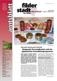 Amtsblatt KW 41.pdf - Stadt Filderstadt