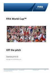Statistical Kit - FIFA World Cup - Off the pitch - status after ... - FIFA.com