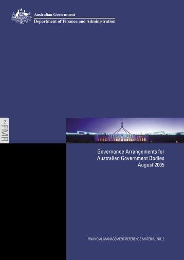 Governance Arrangements for Australian Government Bodies PDF ...