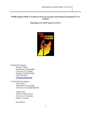 Final Report for JFSP Project 12-5-01-2 - Joint Fire Science Program
