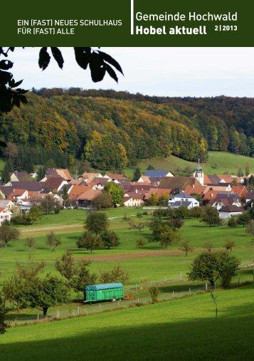 Gemeinde Hochwald Hobel aktuell 2 | 2013 - firma-web.ch