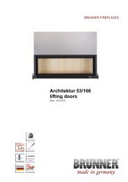 Architektur 53/166 lifting doors made in germany - Brunner