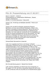 POL-GI: Pressemitteilung vom 01.06.2011 - Firmendb
