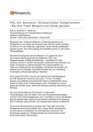 POL-DA: Bensheim: Strassenräuber festgenommen / Bei ... - Firmendb