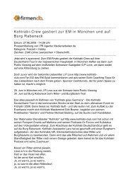 Kohlrabi-Crew gastiert zur EM in München und auf Burg ... - Firmendb