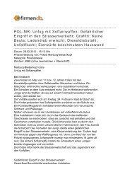 POL-MR: Unfug mit Softairwaffen; Gefährlicher Eingriff in ... - Firmendb