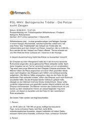 POL-WHV: Betrügerische Trödler - Die Polizei sucht ... - Firmendb