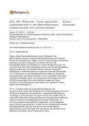 POL-HK: Walsrode: Tresor gestohlen ... Soltau ... - Firmendb
