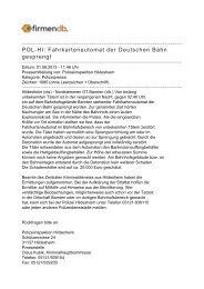 POL-HI: Fahrkartenautomat der Deutschen Bahn ... - Firmendb
