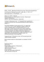 POL-CUX: Medienmitteilung der Polizeiinspektion ... - Firmendb