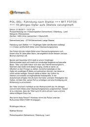 POL-DEL: Fahndung nach Stalker +++ MIT FOTOS +++ ... - Firmendb
