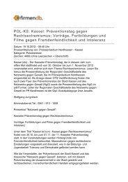 POL-KS: Kassel: Präventionstag gegen ... - Firmendb