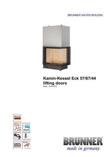 Wohnzimmer und Kamin brunner kamin kessel 62/76 : kamin 80 45 lifting doors made in germany brunner brunner stil kamin ...
