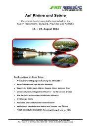 Auf Rhône und Saône - First Reisebüro