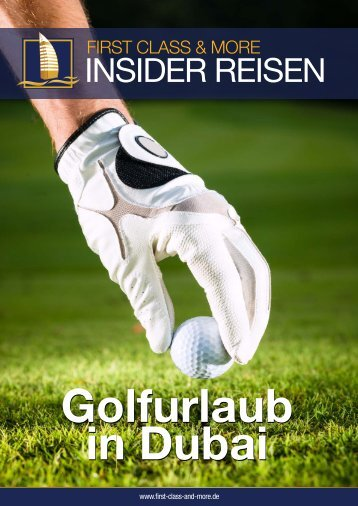 Golfbroschüre downloaden - First Class & More
