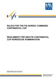 rules for the fis nordic combined continental cup reglement für den ...