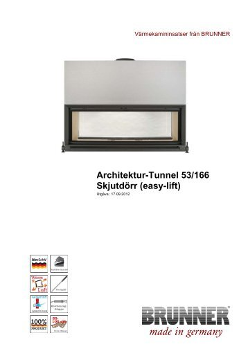 Architektur-Tunnel 53/166 Skjutdörr (easy-lift) - Brunner