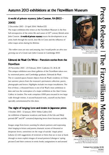 Download press release - The Fitzwilliam Museum - University of ...