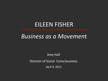 Amy Hall/Eileen Fisher
