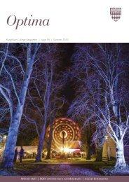 Optima 19 (PDF) - Fitzwilliam College - University of Cambridge