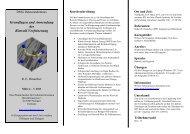 Grundlagen und Anwendung der Rietveld Verfeinerung