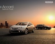 Accord (Berline / Tourer) (PDF, 4.8 MB) - Honda