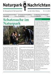 Naturpark-Nachrichten Nr. 15 (600 KB) - Naturpark Hoher Fläming