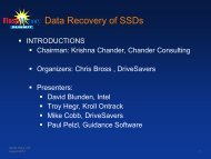 Data Recovery of SSDs - Flash Memory Summit