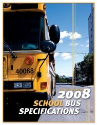 SCHOOL BUS SPECIFICATIONS - Florida Department of Education