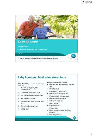 Baby Boomers - Flinders University