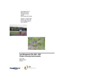 Land Management Plan 2004 - 2050 Flinders University South ...